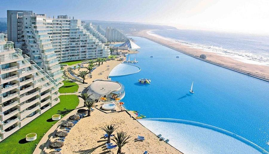San alfonso del mar resort suzzstravels - The biggest swimming pool in chile ...